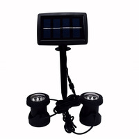 Solar Projective Lamp Double LED Spot Light Water Land Dual Purpose Underwater Submersible Lamp High Efficiency Waterproof