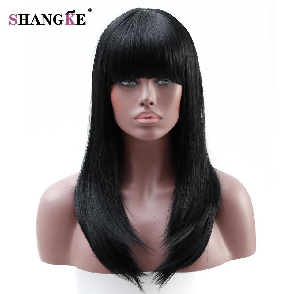 SHANGKE hosszú hullámos paróka női parókák afro-amerikai - Szintetikus haj