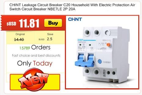 1Pcs DZ47-60 C60 AC 400V 60A 2P Overload Protect Miniature Circuit Breaker