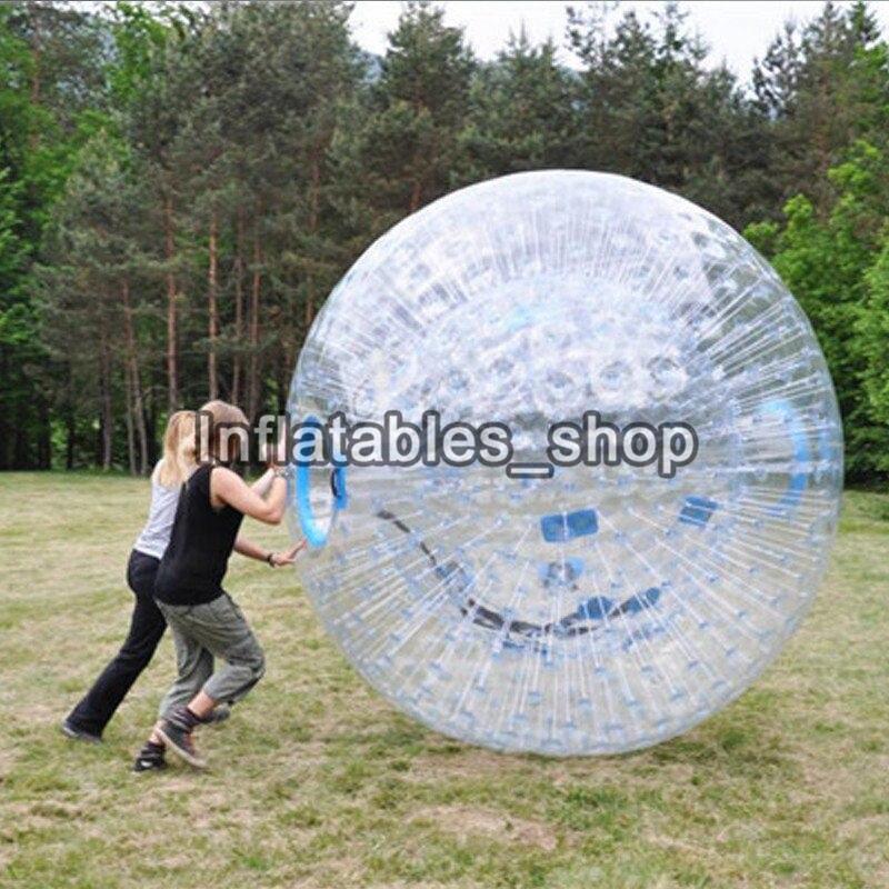 Envío Gratis transparente gigante adulto inflable bola del Zorb/cuerpo bola del Zorb para césped al aire libre juego de 2,5 m de diámetro