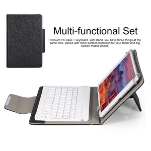 Image 4 - Wireless Bluetooth Keyboard for Tablet PU Leather Case Stand Cover For Pad 7 8 inch 9 10 inch for IOS Android Windows