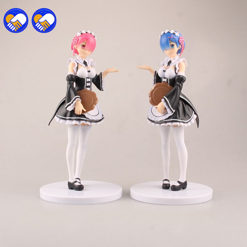 A toy A dream Re:Life in a different world from zero Rem Action Figure Ram Nendoroid Figure Doll PVC figure Toys Brinquedos 23cm re life in a different world from zero rem action figure wedding dress ver rem pvc figure toy brinquedos