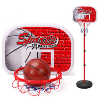 120CM Adjustable Kids Basketball Stand Basketball Portable Boards Set Outdoor Indoor Children Cast Iron Lifting Basketball Frame