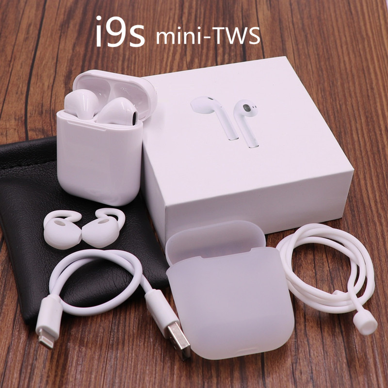 Новинка i9s air pods TWS Беспроводные Мини Bluetooth наушники беспроводные гарнитуры наушники вкладыши для apple Andorid Iphone