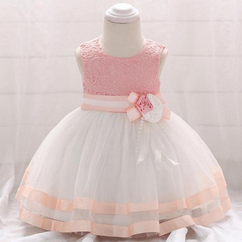 Baby Girl Summer Dress Flower Girl Dresses Cotton Newborn Baby Girl Wedding Dress Sleeveless Summer Dress Baby