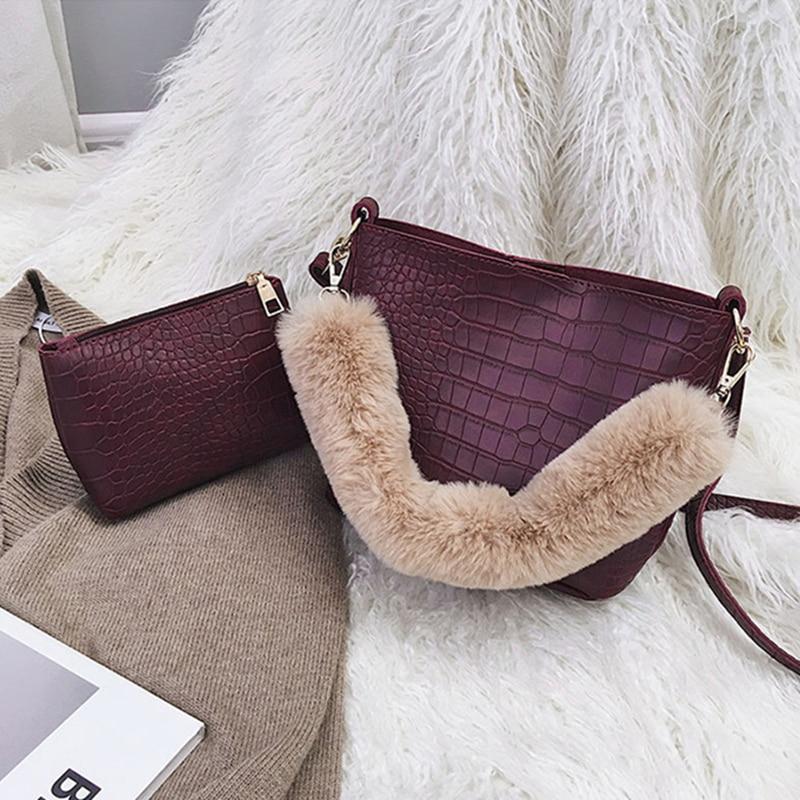 75101566f6 Moda borgogna Giallo Nero Tote colore Donne Sacchetti Borsa Spalla Delle Di  Qualità Casual Modello brown ...