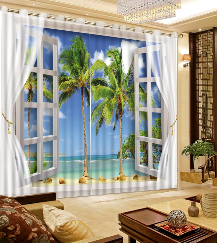 Custom any size Luxury European Modern beach scenery ...