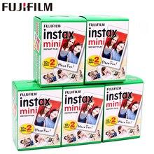الأصلي 100 ورقة فوجي فوجي فيلم Instax Mini 8 فيلم أبيض ورق طباعة الصور الفورية ل 7s 8 9 90 25 55 حصة SP 1 SP 2 كاميرا فورية