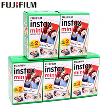 Original 100 Blatt Fuji Fujifilm Instax Mini 8 Weiß Film Instant Photo papier Für 7 s 8 9 90 25 55 Teilen SP 1 SP 2 Instant kamera