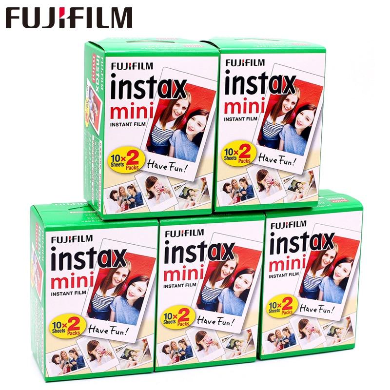 Original 100 hoja Fuji Fujifilm Instax Mini 8 película blanca papel fotográfico Instantáneo Para S 7 S 8 9 90 25 55 Share SP-2 SP-1 cámara instantánea