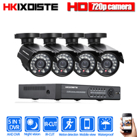 HKIXDISTE 4CH 1080N HDMI DVR 720P HD Indoor Outdoor Security Camera System 1TB Hard Drive 4 Channel CCTV DVR Kit AHD Camera Set