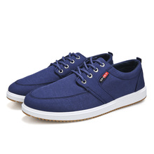 Classic Men Canvas Shoes 2019 Summer Breathable Casual Vulcanized High Quality Anti-Slip Flat Male Loafers