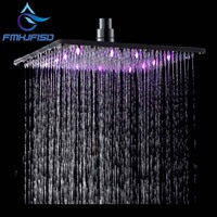 Free Shipping Wholesale And Retail Promotion Modern Wall Mounted LED Color Chaning Solid Brass Shower Head