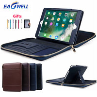 For iPad mini 1 2 3 4 Case Briefcase Multifunction PU Leather Protective Case Stand Cover Wallet Card Slot Bag for iPad mini