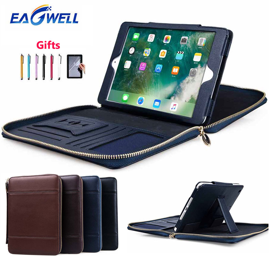 For iPad mini 1 2 3 4 Case Briefcase Multifunction PU Leather Protective Case Stand Cover Wallet Card Slot Bag for iPad mini stylish plaid handbag designed plastic pu leather case w card slot for iphone 5 5s black