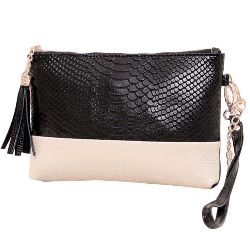 Luxury Crocodile Women Messenger Bags Small Crossbody Bag Soft PU Leather Bag for Women Black White Splice Ladies Fringe Bag grey soft plain pu crossbody bag