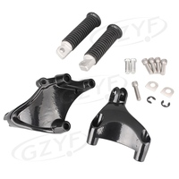 Motorcycle Rear Set Footpegs Footrests Pegs Bracket Kit For Harley Davidson IRON 883 Forty Eight Seventy Two 1200 XL Sportster