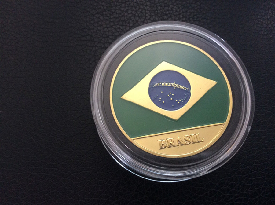 Free Shipping 3pcs/l, Brazils National FlagPoker Coin Chip Card Guard Protector Cover New