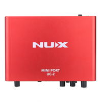 NUX UC 2 MINI PORT USB Audio Interface For Guitar Bass Or Other Music Instruments