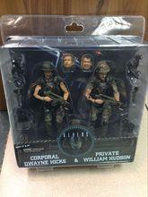 Movie 30th AVP Aliens vs Predator Series Alien Covenant Corporal Dwayne Hicks & Private William Hudson Soldier Toy Action Figure