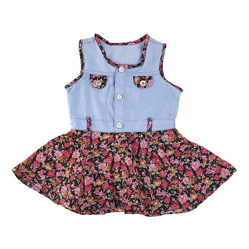 1-3T Baby Girl Summer Denim Dresses Bebe Infant Clothes Baby Clothing Girls,Fashion Blue Childrens Dress Clothes for Girls