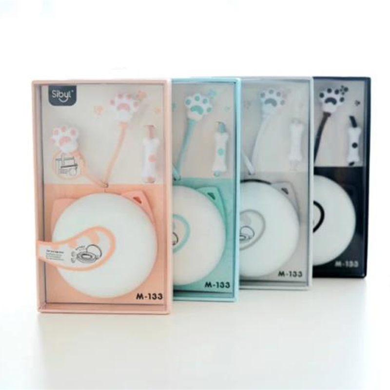 Cute Cat Macarons Earphones in-ear Stereo with Microphone Earphone Case Protable for All Phones iPhone Xiaomi for Girls Kids