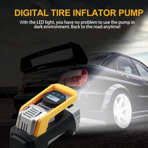 Image 3 - Air Compressor Pump, Digital Tire Inflator DC 12V 120W 150 PSI Car Air Pump with Auto Shut Off Gauge and Powerful Emergency