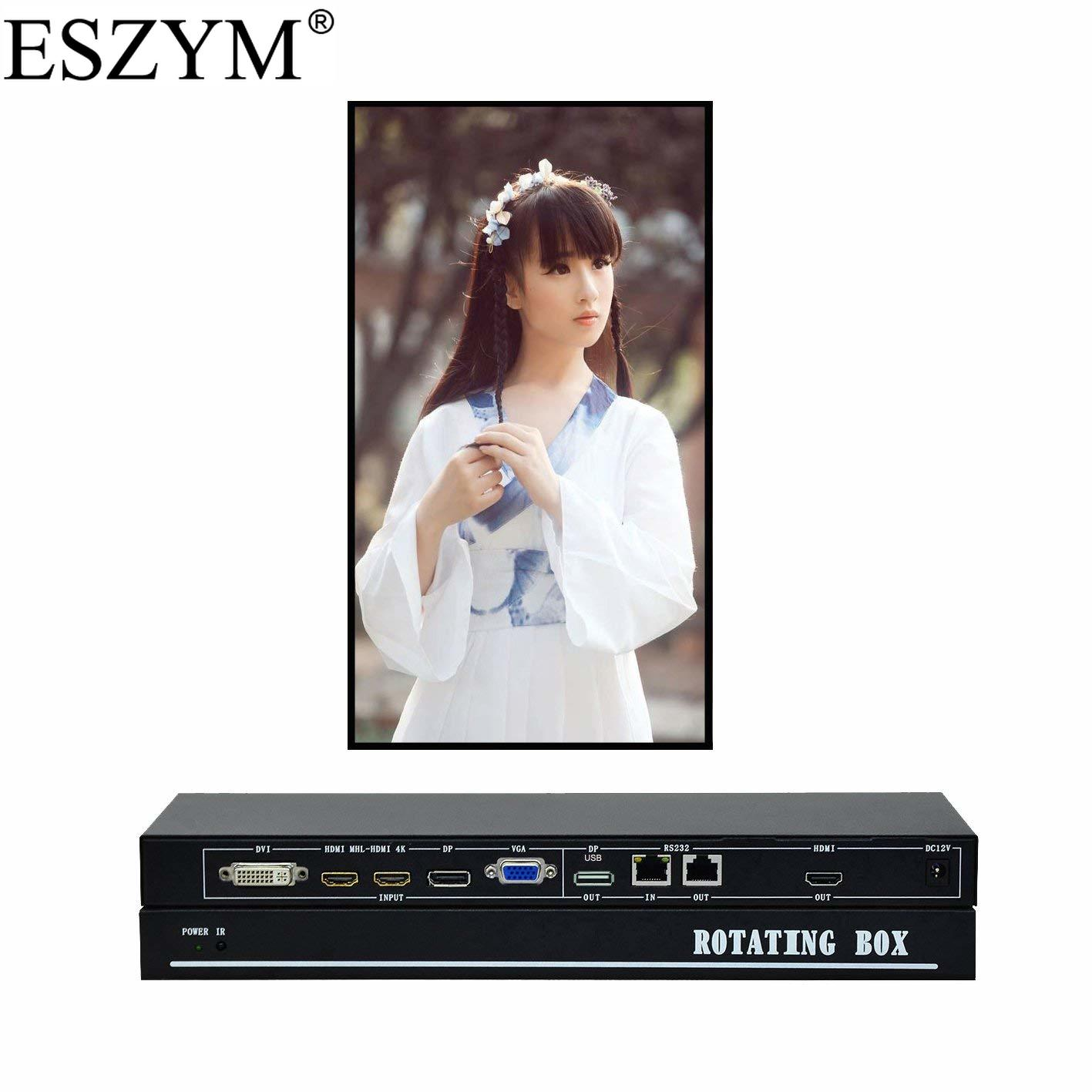 ESZYM Video Rotating Box Support HDMI DP DVI VGA Video inputs 90 or 270 Degree Image flip for Vertical Screen DisplayESZYM Video Rotating Box Support HDMI DP DVI VGA Video inputs 90 or 270 Degree Image flip for Vertical Screen Display