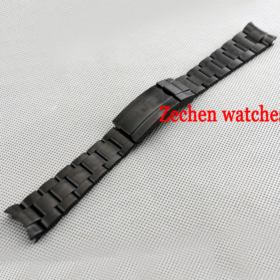 20mm 316L Solid stainless steel bracelet watch strap Black watch bands watchband 20mm new heavy solid 316l stainless steel watch bands bracelets for bu1350 bu1366 bu1360