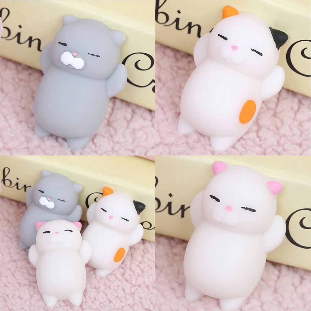 1PCS Mini Cute Mochi Squishy Cat Squeeze Healing Kids Kawaii Toy Stress Reliever Decor Animal