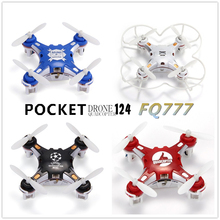 1pcs RC Helicopter Pocket Drone Planes Mini 4CH 6Axis Gyro Switchable Controller FQ777 124 Model Toy Children Gifts RTF Micro