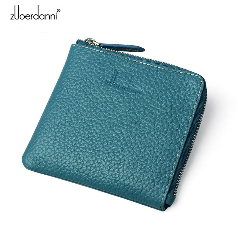 Women's Coin Purse leather wallet women mini wallet Korean wallet High quality leather wallet fashion short style new bosca old leather coin purse