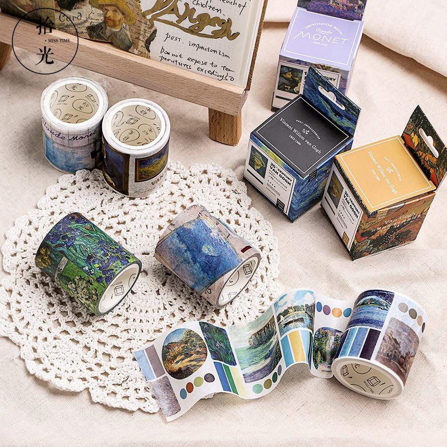 1 Pcs/lot DIY Japanese Paper Decorative Adhesive Tape Cartoon Great Artist Washi Tape/Masking Tape Stickers