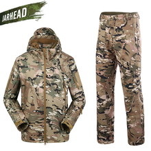US Army Military Uniform Men Shark Skin Soft Shell Jacket Genuine Windproof Hiking Hunting Tactical TAD 4.0 Jacket Pants Suits недорго, оригинальная цена