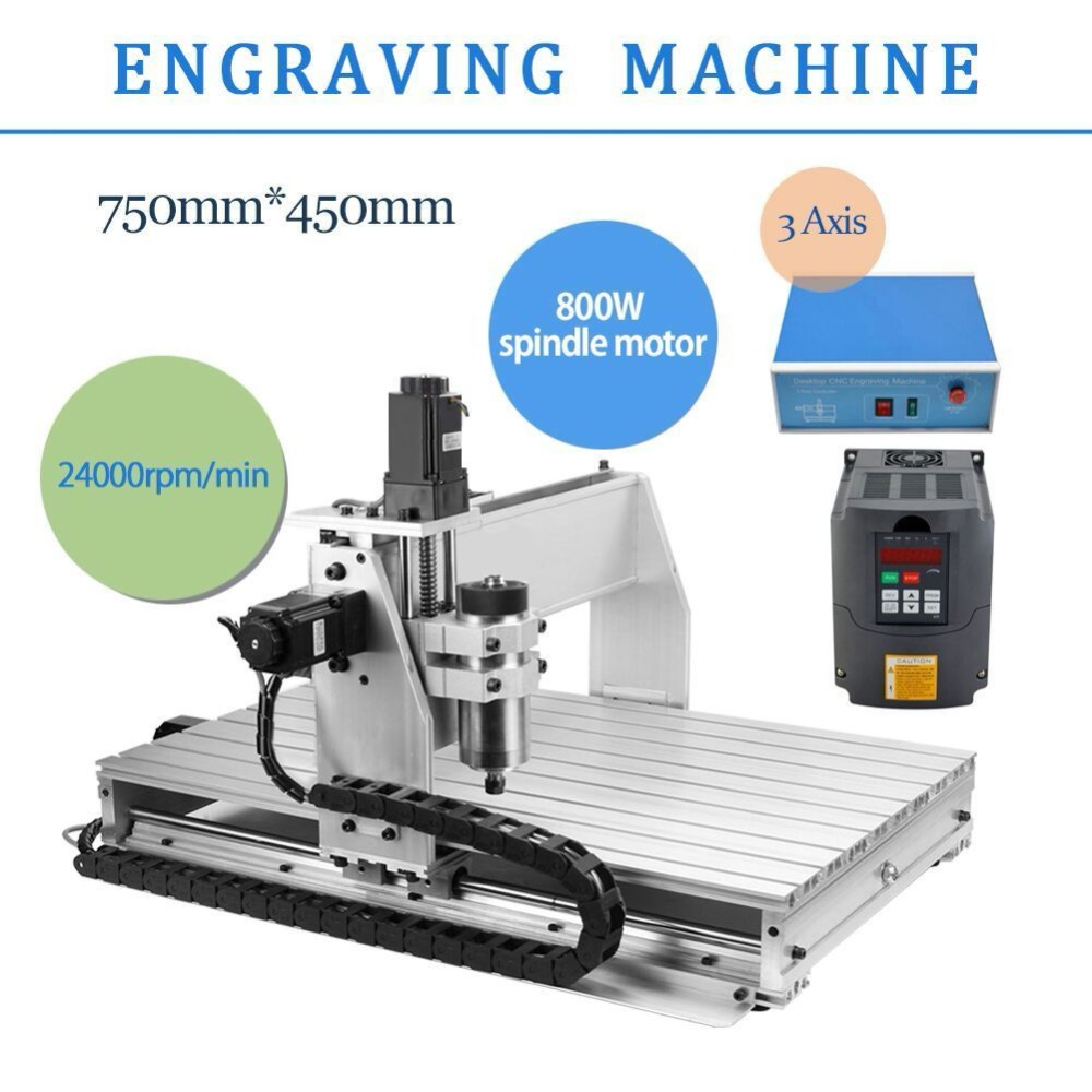 HOT CNC ROUTER ENGRAVER MILLING MACHINE ENGRAVING DRILLING 3 AXIS 6040 DESKTOP eur free tax cnc 6040z frame of engraving and milling machine for diy cnc router