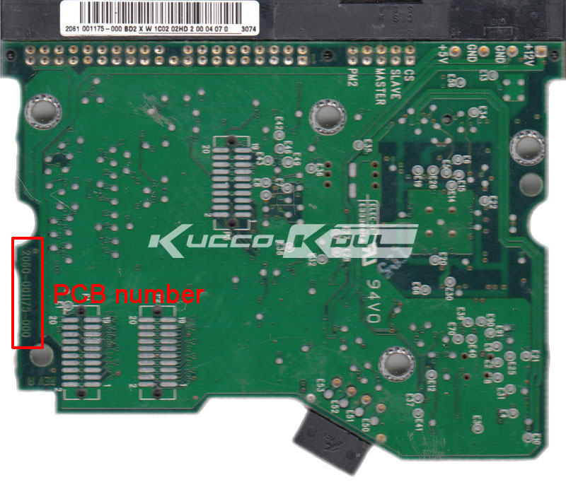 HDD PCB Logic Board 2060-001175-000 REV A For WD 3.5 IDE/PATA Hard Drive Repair Data Recovery