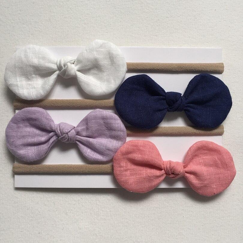 4PCs/Lot Baby Toddler Kid Girl Bow Hairband Turban Knot Rabbit Headband Headwear