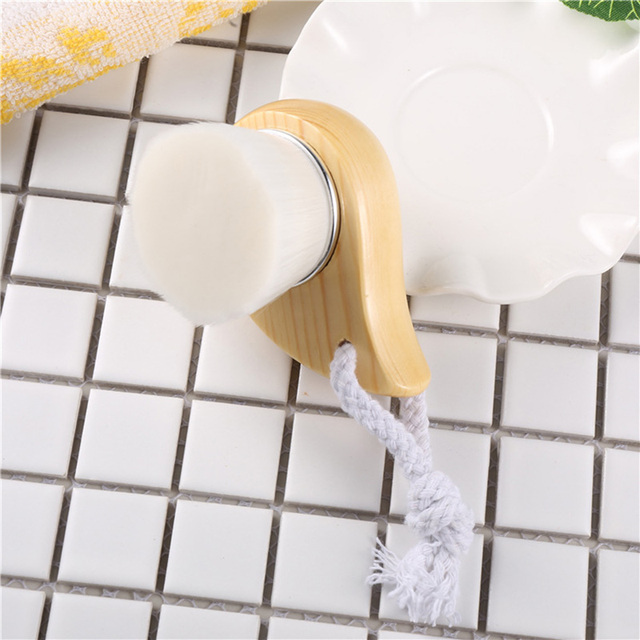Top Quality Fiber Soft Brush Deep Cleaning Blackhead Nose Washing Brush Pore Clean Brush Wooden Handle Brush Cleanser Small Tool 4