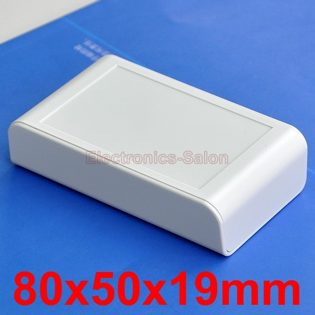 Desktop Instrumentation Project Enclosure Box Case, Full White, 80x50x19mm.