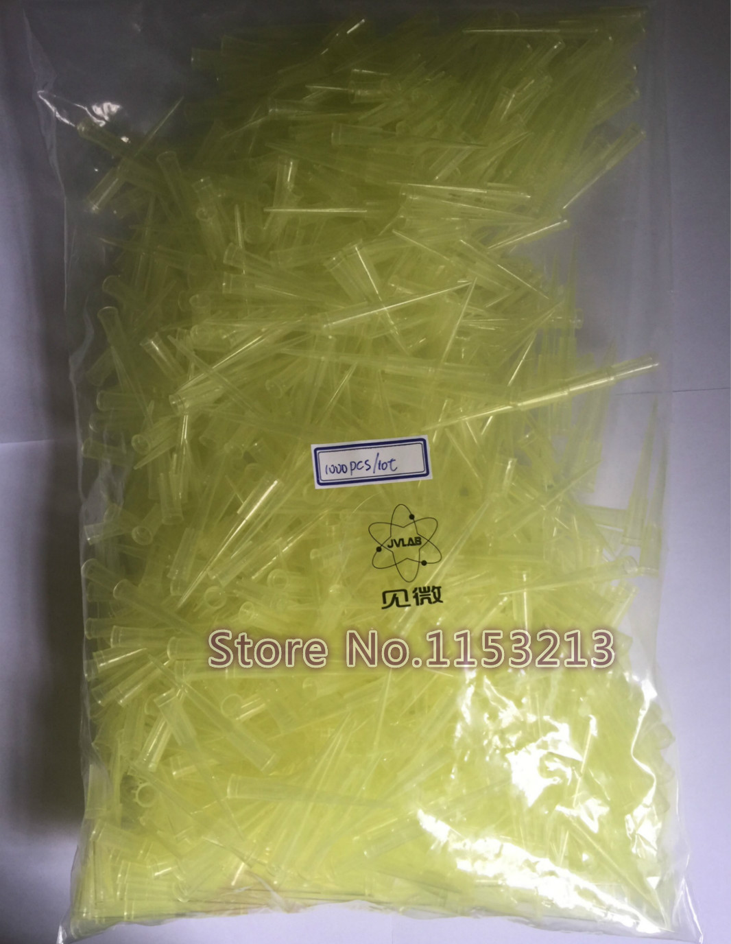 1000pcs/lot Disposable PP Plastic Pipette Tips Match Dlab brand Pipettor Universal Yellow Pipet Tips for 20ul/ 50ul/100ul/200ul