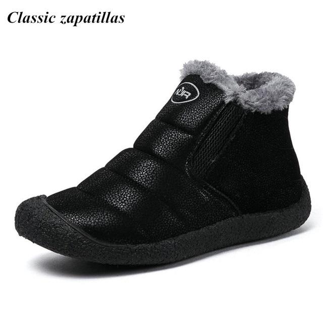 Mode d'hiver pour hommes Bottes de neige garder au chaud en peluche Bottines Chaussures de travail Sneakers Casual Outdoor 5cC6l