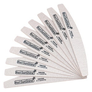 Image 2 - 50 Pcs Holz Nagel Datei 180/240 Grau Schleifpapier Gel Polieren Kurve Nagel Puffer Block kalk eine ongle profess Nagel Zubehör