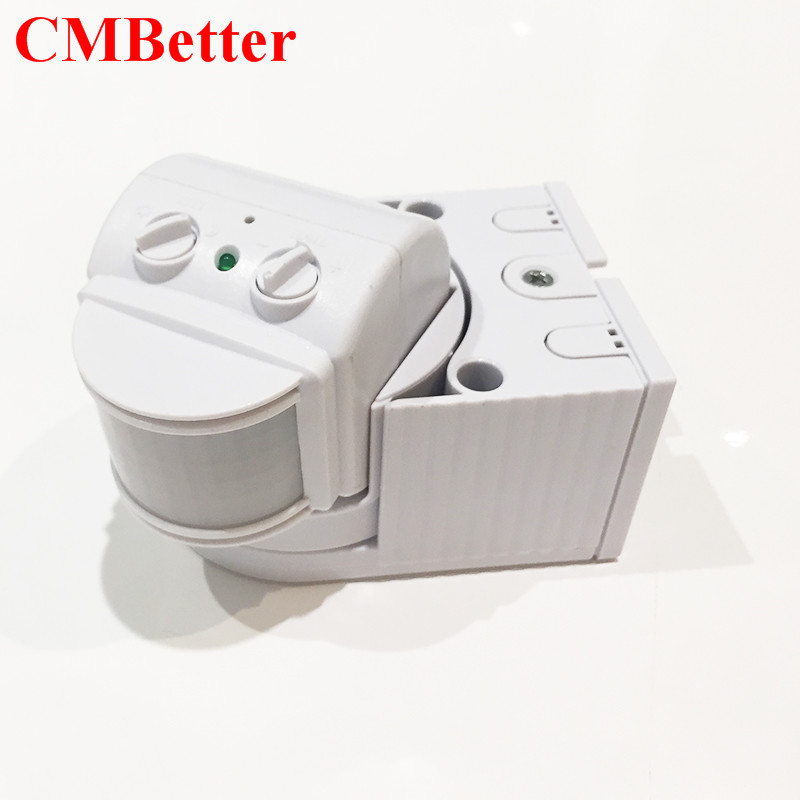 Energy-Saving Time and Lux adjustable 220V-240v/AC 180 Degree PIR Infrared Motion Sensor Detector Movement Switch Max 12m xsav11801 inductive proximity switch speed sensor motion rotate detector 0 10mm dc ac 24 240v 2 wire 30mm replace telemecanique