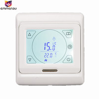 1Set LCD Digital Programmable Underfloor Heating Thermostat Smart Touch Screen Room Temperature Controller Switch +Sensor 5~90C