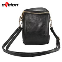 a139a7fad925c Effelon Retro Ladies Handbag Ladies Shoulder Bag Mobile Phone Bag PU Leather  Pocket Purse Handbag Neck