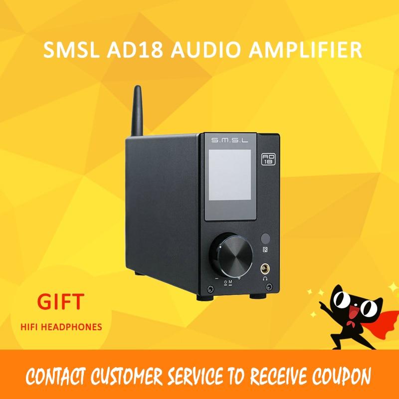 ASD SMSL AD18 80 W * 2 DSP HIFI Bluetooth 4.2 Optical Pure Digital / Coaxial USB DAC Decoder stereo power amplifier amplificad