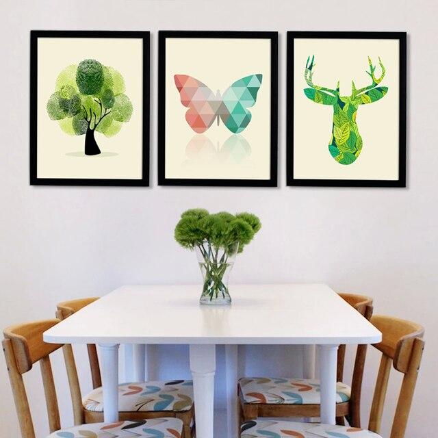 Холст уолл-постер сайт холст бабочка олень настенные панно для гостиной картину маслом Кадры не включены картины на стену Modular pictures картина на холсте картина маслом Модульные картины картины для кухни