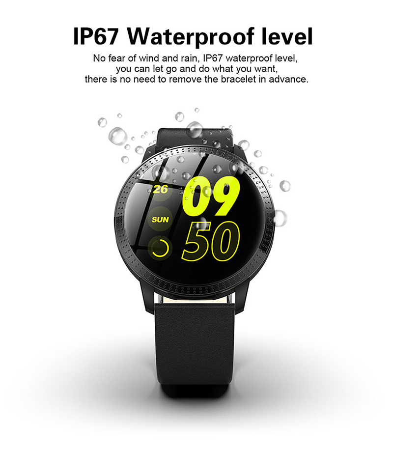 Watches Sanda Smart Watch Ip67 Waterproof Bluetooth Heart Rate Monitor Blood Pressure Smartwatch For Xiao Mi Android Ios Men Women Clock Bright Luster