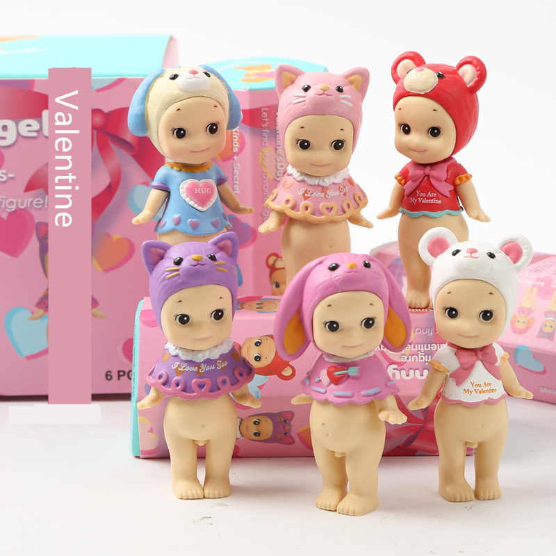 US $27 83 |Sunny Baby Dolls for Girls Sonny Angel Character Kawaii Mini  Japanese Figures New Year Halloween Christmas Birthday Toys Gift-in Dolls  from