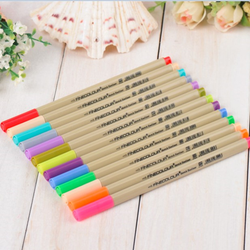 FineColor Sketch Liner Color Drawing Pen Extra Fine 0.3 mm 16 Color/24 Color Set Perfect for Manga Design touchnew 60 colors artist dual head sketch markers for manga marker school drawing marker pen design supplies 5type
